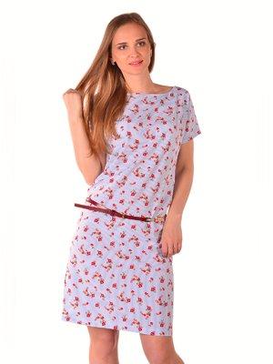Сукня в смужку з квітковим принтом | 3406376