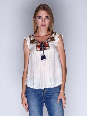 Блуза молочного цвета | 3010040