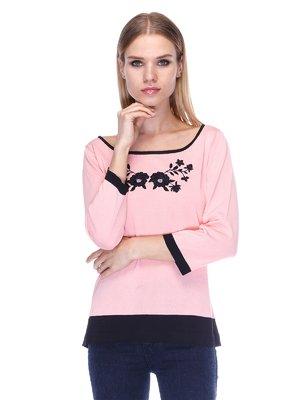 Джемпер розово-черный | 3400049