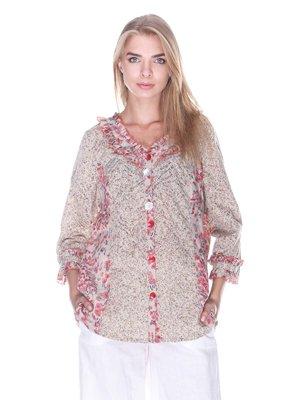 Блуза в принт | 3400016