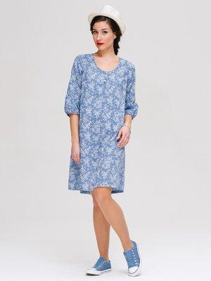 Платье голубое в принт   3381178