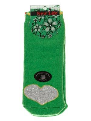 Носки салатовые с рисунком   3406006