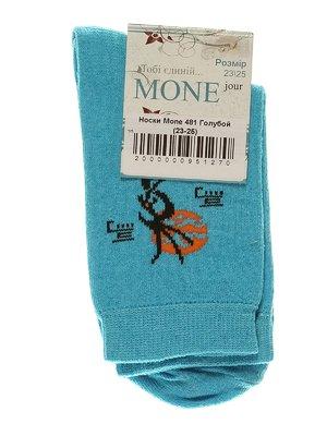 Носки голубые с рисунком | 3279378
