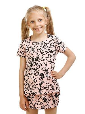 Блуза рожева в принт | 3419747