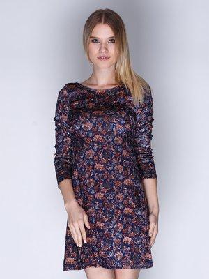 Сукня синя з принтом | 3010645