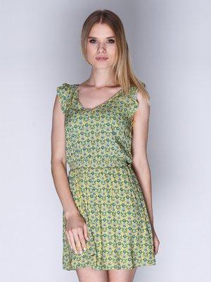 Сукня жовта в квітковий принт | 1899231