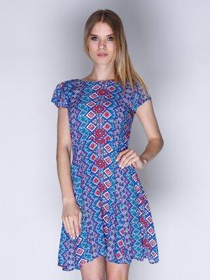 Сукня синя з орнаментом | 3010639