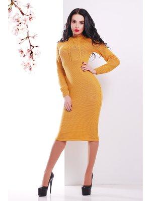 Сукня гірчичного кольору | 3405698