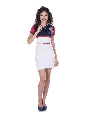 Платье бело-синее | 2528455