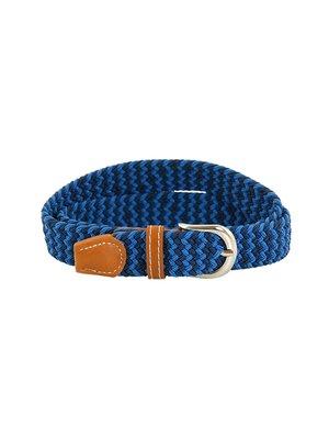 Ремінь синій плетений | 3436562