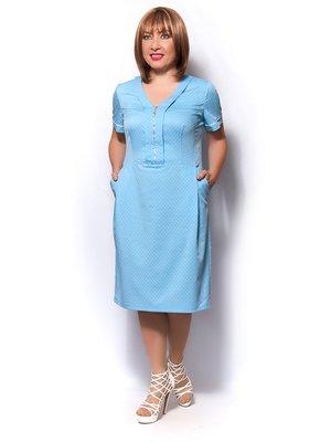 Платье голубое в горох | 3436352