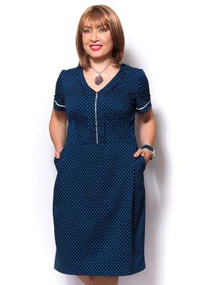 Платье синее в горох | 3436354