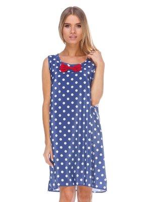 Платье синее в горох | 3423821