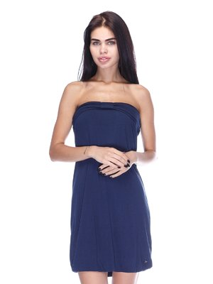 Сукня-бюстьє темно-синя | 3431615