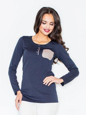 Блуза темно-синя | 3441212