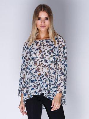 Блуза белая в цветочный принт | 1899417