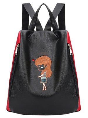 Рюкзак двухцветный с вышивкой | 3443591