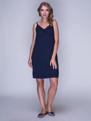 Рубашка ночная синяя | 3011327