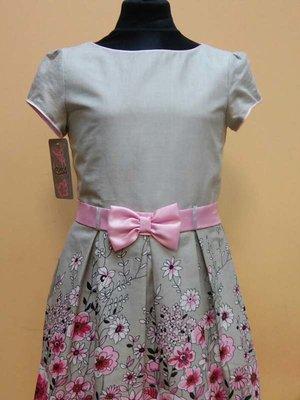 Сукня сіра в принт | 3062549