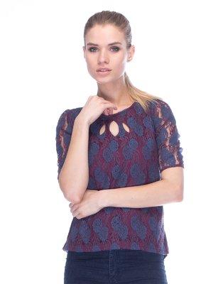 Блуза бордова | 3453616