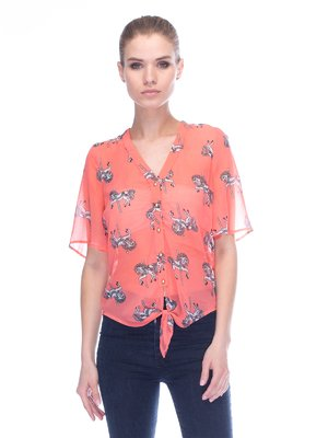 Блуза коралова | 3453656
