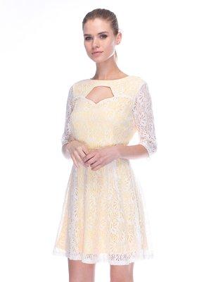Сукня жовто-біла | 3453637