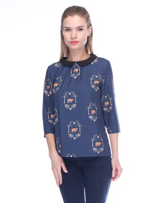 Блуза синя | 3453619