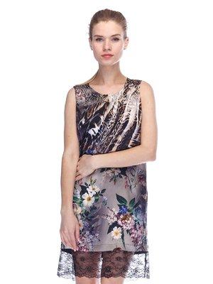 Платье комбинированной расцветки | 3455611