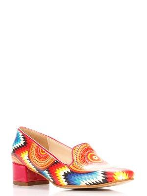 Туфли в разноцветный принт | 3189109