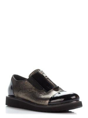 Туфлі бронзово-чорні | 3297920