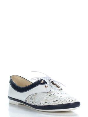 Туфли бело-синие | 3465463