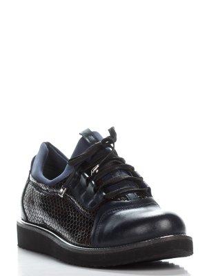 Ботинки сине-коричневые | 3465298