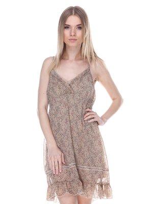 Платье бежевое | 3112781