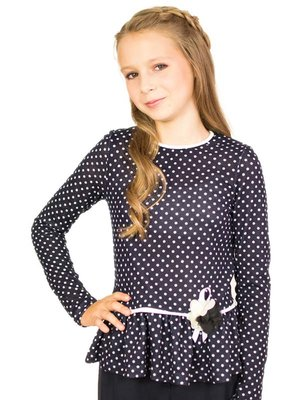 Блуза синяя в горох   3461226