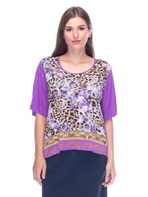 Блуза комбинированной расцветки | 3455495