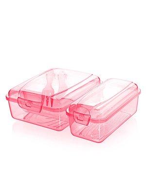 Контейнер двойной для обеда со столовыми приборами | 3415757