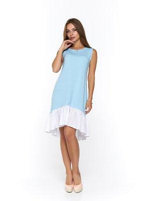 Сукня біло-блакитна | 3474951