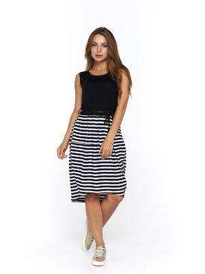 Платье черное в полоску | 3475047