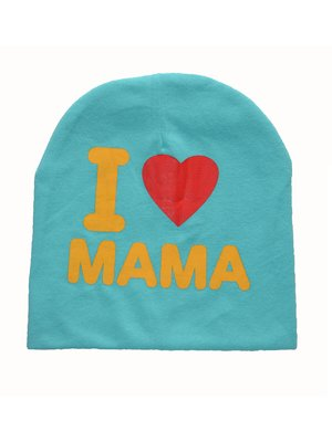 Шапка голубая I love mama   3476352