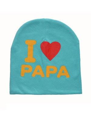 Шапка голубая I love papa   3476353