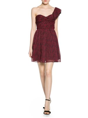 Сукня чорно-червона в принт | 2355407