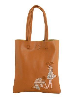 Сумка коричневая с вышивкой | 3482588