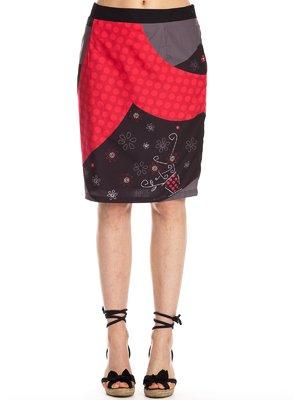 Юбка черно-красная | 3483589