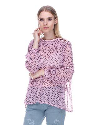 Блуза розовая в принт | 3478047