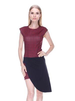 Платье черно-бордовое - Denny Rose - 3478052