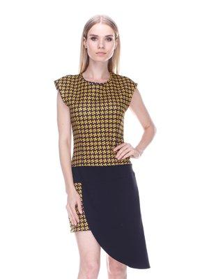 Платье черно-желтое - Denny Rose - 3478051