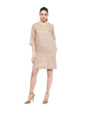 Платье бежевое | 3499372