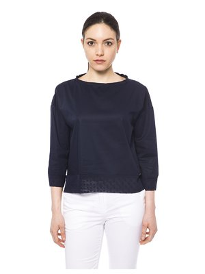 Блуза темно-синяя | 3499412
