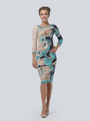 Платье в цветочный принт | 3505415