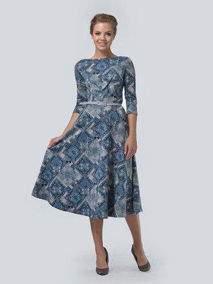 Платье комбинированной расцветки | 3505452